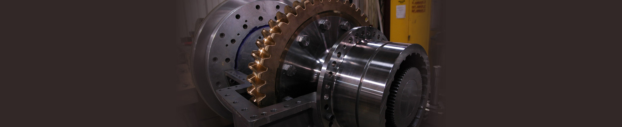 A Large Gear on a Machine
